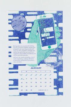 Risograph Calendars - Gray Wielebinski
