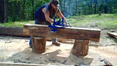 This video shows the build of an Alaskan Style Chainsaw Mill from Junk Steel scraps lying around your garage. Compact, lightweight design