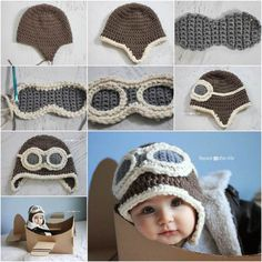 Cute Aviator Hat Crochet Pattern | DIY Tag