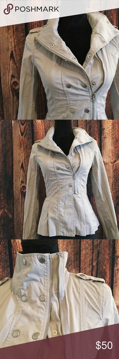 Armani Exchange Bomber Jacket Gorgeous AX jacket with snap and zipper closure. Some snaps show a little wear, priced accordingly. 49 cotton 48 nylon 3 spandex. No trades. A/X Armani Exchange Jackets & Coats Utility Jackets