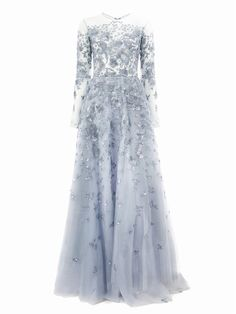 Zuhair Murad sequin embroidered tulle gown