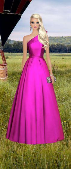 Fashion Dolls, Fashion Art, Girl Fashion, Fashion Design, Glam Girl, Covet Fashion Games, Everything Pink, Fashion Sketches, Lady