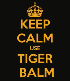 Use Tiger Balm...really, it helps!