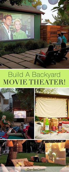Build A Backyard Movie Theater This Summer! Lots of great Ideas Tutorials!