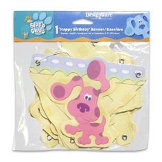 Blues Clues Happy Birthday Banner. Amazon Prime Price $3.99