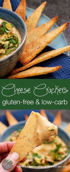 Gluten-Free, Low-Carb Cheese Crackers | www.cheesecakeforbreakfast.co