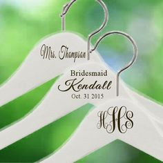 Ships Immediately Engraved~Notched Wedding Hanger~ Personalized Bridal Party Wedding Dress Hanger Bridal Shower Gift Bride Bridesmaid Hanger by TheEliteBride on Etsy https://www.etsy.com/listing/250327788/ships-immediately-engravednotched