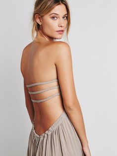 Grey Pleated Halter Backless Maxi Dress