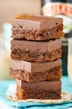 Baileys Fudge Brownies! They melt right in your mouth!