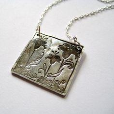 PMC silver pendant