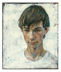 Daniel Barkley Vincent 2007 acrylic on canvas/acrylique sur toile 30 x 36 cm, x Portraits, Portrait Art, Master Of Fine Arts, Canadian Painters, Boy Drawing, Photo Hosting, Elements Of Art, Drawing People, Figure Painting
