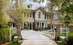 Fairfield design project's front entry gate -- Howard Design Studio