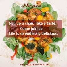 Pull up a chair. Take a #taste. Come join us. Life is so endlessly #delicious. Sharabi #Jhingey – Black #Tiger Prawns #tossed together with #invigorating #spices and #tempered.