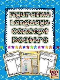 Figurative Language Concept Posters - have your students complete posters and reflect on the figurative language concepts.  $