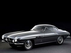"Fiat 8V ""Otto Vu"" Ghia Supersonic (1952-1954) 8 built with ""Supersonic"" body. 70° 2-liter V8, two 36 DCF3 Weber Carburetors, 110bhp/108ftlbs, 4-speed, 2050.3 lbs. Body by Ghia (Giovanni Savonuzzi)"