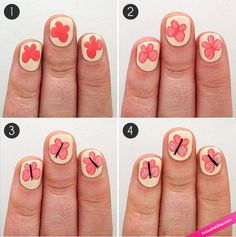 Como pintar uñas de mariposa