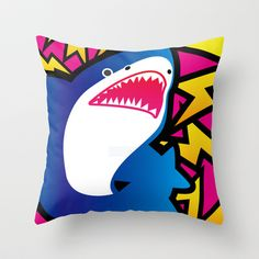 Shark!! Throw Pillow by sol_pro - $20.00