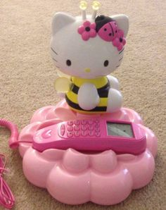 Hello Kitty Bumble Bee LCD Caller ID Display Telephone