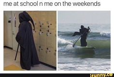 When you're dead inside but still has to go to school, but wanna have a good time too