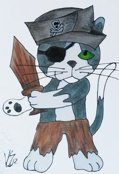 PIRATE CAT #4 aceo on ebay