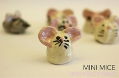 MINI-MICE-CLAY-PROJECT pinch pots Thinks multiples...intallation...invasion of the mini critters!! Would make a pretty cool display!