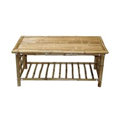 112 Bamboo 54 Bamboo Rectangular Coffee Table