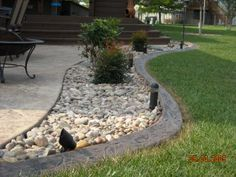 Our custom-designed, continuous concrete landscape edging is available in the widest variety of styles and colors in the Wichita area. Backyard Projects, Garden Projects, Garden Ideas, Patio Ideas, Outdoor Ideas, Concrete Landscape Edging, Outdoor Landscaping, Landscaping Ideas, Dog Friends