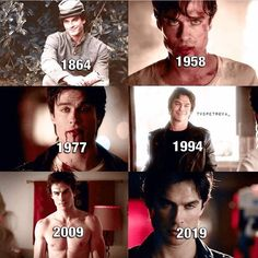 damon salvatore from the vampire diaries throughout the years...he aged very nicely. || ian somerhalder