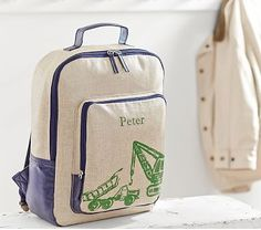 Riley Navy Construction Backpack #pbkids