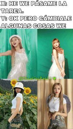 #wattpad #fanfic Memes robados y gif's gays de las NEGROROSAS. Yg Entertainment, Yg Groups, Memes Blackpink, S Videos, Blackpink Twice, Blackpink Funny, Chaeyoung Twice, Rose Park, Korean Couple
