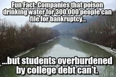 corporations can, but students can't.