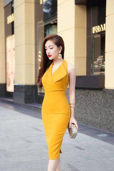 Đầm Giả Vest Cổ Yếm Khoét Lưng-MSP 2621 - Giá 300.000đ