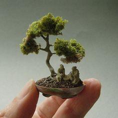 Árbol de los bonsais miniatura casa de muñecas por ThisOldDollhouse