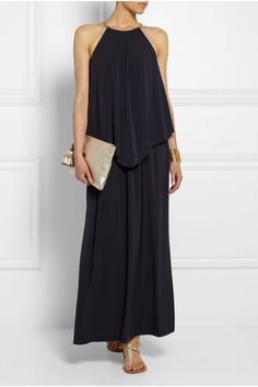 MICHAEL Michael Kors | Chain-embellished stretch-jersey maxi dress