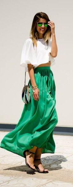 Fab. Green Skirt
