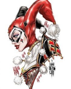 Harley Quinn by Jamie Tyndall Joker Comic, Harley Quinn Comic, Joker Art, Harley Quinn Tattoo, Harley Quinn Drawing, Gotham City, Der Joker, Arte Alien, Harely Quinn