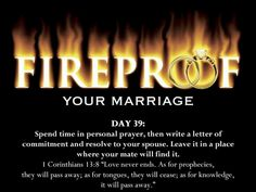 Fireproof your marriage day 39