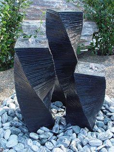 Wasserspiel Einzelsäule 55 cm Stele gedreht schwarz Springbrunnen Säulenbrunnen in Garten & Terrasse, Teiche, Bachläufe und Brunnen, Spring- & Zierbrunnen | eBay!