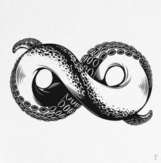 Octopus infinity tattoo idea. i wouldnt get this but it is SICK