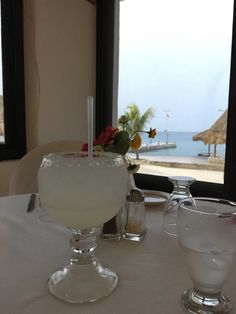 Margarita, Fat Grouper Restaurant, Scuba Club Cozumel, Chill