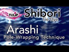 ▶ How To Shibori using the Arashi Pole-Wrapping Technique - YouTube