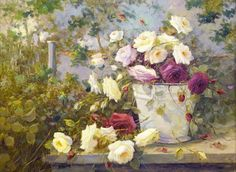 Gallery.ru / Фото #1 - Розы всегда прекрасны. Художник R. Masson Benoit - Anneta2012