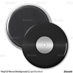 Vinyl LP Record Background 2 Inch Round Magnet #Gravityx9