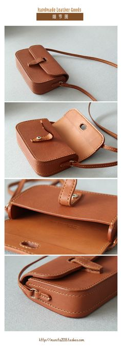 leather handbags and purses Soft Leather Handbags, Leather Purses, Leather Wallet, Leather Bags Handmade, Handmade Bags, Leather Craft, Crea Cuir, Leather Bag Pattern, Leather Projects