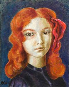 "Saatchi Art Artist Clara de Bobes; Painting, ""Charlotte"" #art Art For Sale, Saatchi Art, Oil On Canvas, Original Paintings, Charlotte, Fine Art, Portrait, Artwork, Paintings"