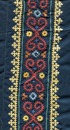 Marash Embroidery - Teal Gown - Sleeve band detail - Maya Heath - June 2016