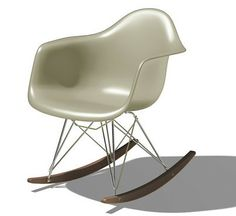 Eames Molded Plastic Armchair Rocker Base - OLD. Designers: Charles and Ray Eames. A classic piece of mid-century furniture Art Furniture, Contemporary Living Room Furniture, Modern Furniture, Dream Furniture, Furniture Chairs, Modern Living, Furniture Design, Eames Rocker, Eames Rocking Chair
