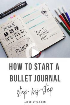 Do you want to start a bullet journal but don't know where to begin? Here's everything you need to know to set up your first bullet journal, step-by-step. Bullet Journal Numbers, Bullet Journal Beginning, Bullet Journal First Page, Bullet Journal For Beginners, Bullet Journal Notes, Bullet Journal Hacks, Bullet Journal How To Start A, Bullet Journal Layout, Bullet Journal Inspiration