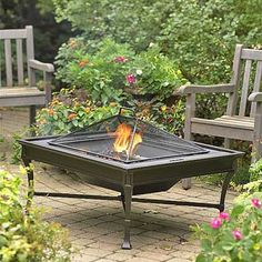 This combination fire pit, grill, and coffee table ($399) puts the fun in backyard functionality. Whether you need a place to set down your hot chocolate, grill burgers, or roast marshmallows, this fire pit takes outdoor entertaining to a new level. The solid cast-aluminum frame stands up to the elements, and its versatile design is sure to complement various design styles. Restoration Hardware restorationhardware.com/