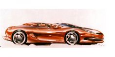 1992 Ford Mustang Mach III Concept - Design Sketch